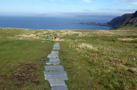 Path down and Atlantic view